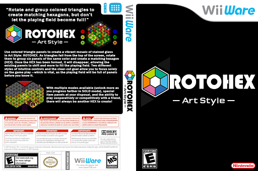 Art Style: ROTOHEX WiiWare cover (WDHE)