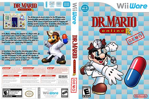 Dr. Mario Online Rx (Friend Battle Demo) WiiWare cover (WDPE)