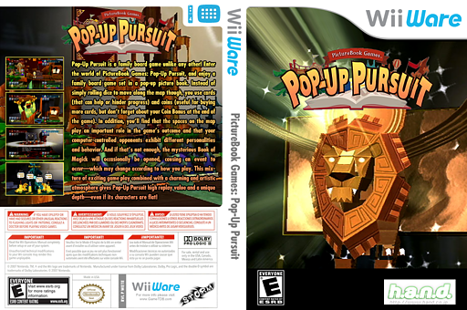 PictureBook Games: Pop-Up Pursuit WiiWare cover (WETE)