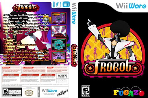 Frobot WiiWare cover (WF6E)