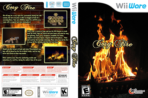 Cosy Fire WiiWare cover (WFXE)