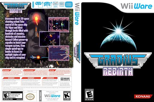 Gradius Rebirth WiiWare cover (WGDE)