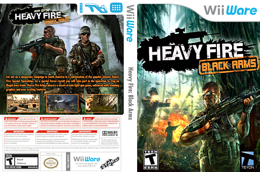 Heavy Fire: Black Arms WiiWare cover (WHYE)