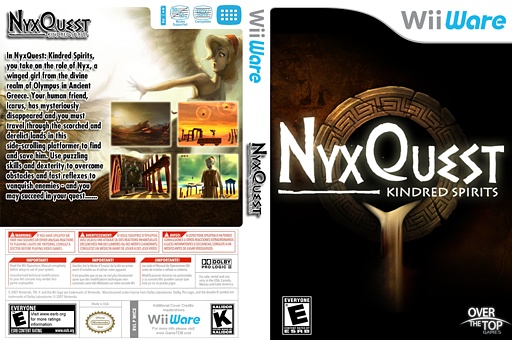 NyxQuest Kindred Spirits WiiWare cover (WICE)