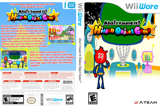 Aha! I Found It! Hidden Object Game WiiWare cover (WITE)