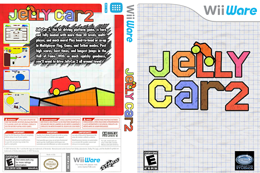 JellyCar 2 WiiWare cover (WJCE)