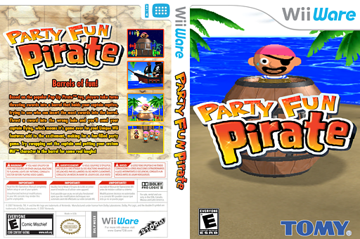 Party Fun Pirate WiiWare cover (WKKE)