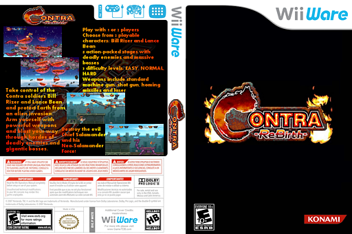 Contra Rebirth WiiWare cover (WKTE)