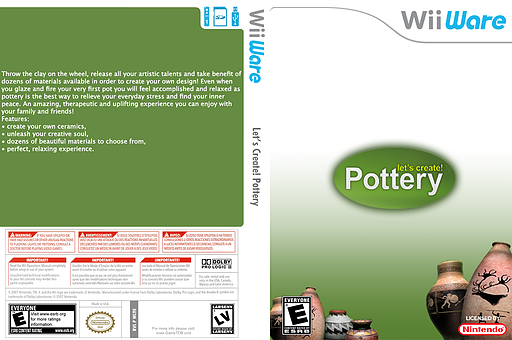 Let's Create! Pottery WiiWare cover (WL9E)