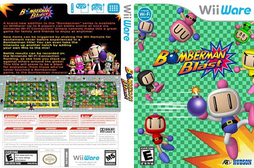 Bomberman Blast WiiWare cover (WM8E)