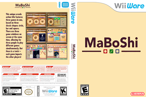MaBoShi's Arcade WiiWare cover (WMBE)