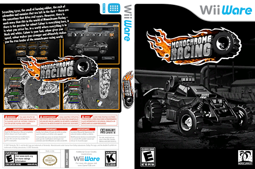 Monochrome Racing WiiWare cover (WMRE)