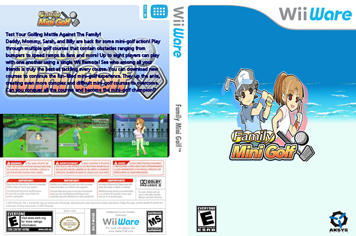 Family Mini Golf WiiWare cover (WOGE)
