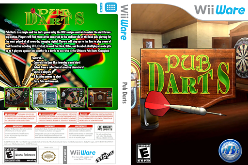 Pub Darts WiiWare cover (WPBE)
