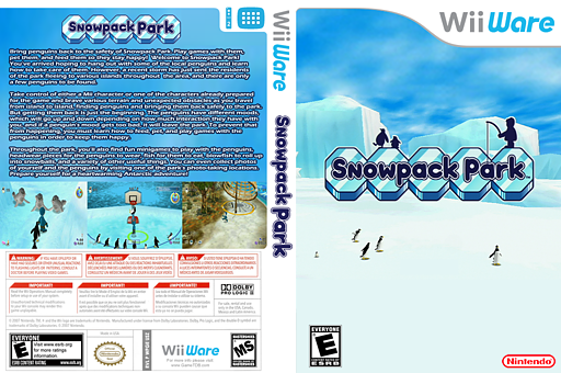 Snowpack Park WiiWare cover (WPGE)