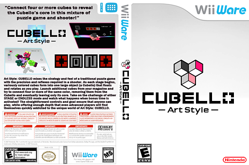 Art Style: Cubello WiiWare cover (WPRE)