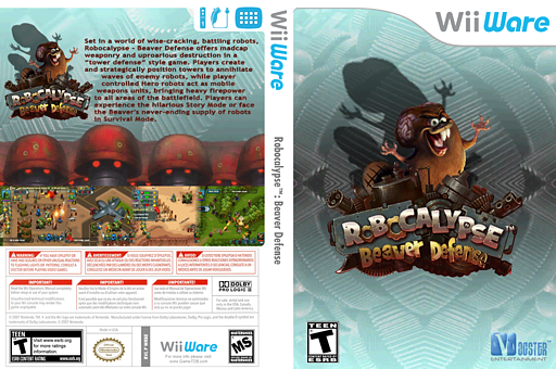 Robocalypse - Beaver Defense WiiWare cover (WRBE)