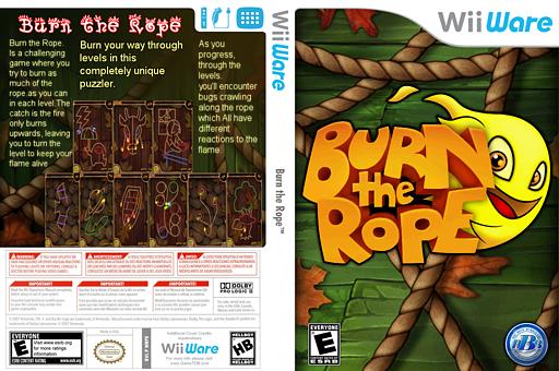 Burn the Rope WiiWare cover (WRPE)
