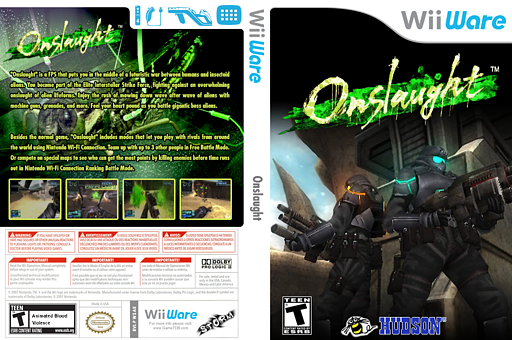 Onslaught WiiWare cover (WSAE)