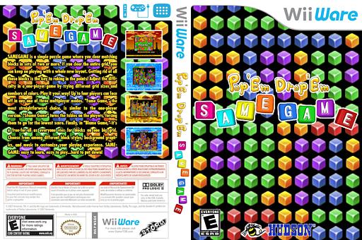 Pop 'Em Drop 'Em Samegame WiiWare cover (WSGE)
