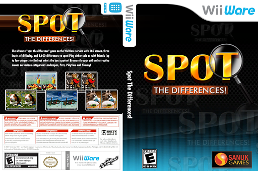 Spot The Differences! WiiWare cover (WSJE)
