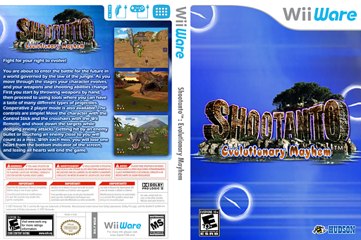 Shootanto: Evolutionary Mayhem WiiWare cover (WSUE)