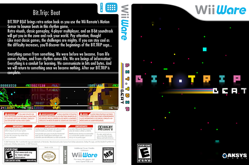 Bit.Trip Beat WiiWare cover (WTRE)