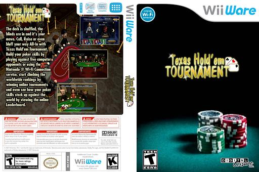 Texas Hold'em Tournament WiiWare cover (WTXE)