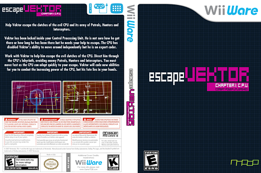 escapeVektor: Chapter 1 WiiWare cover (WYIE)