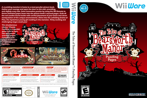 The Tales of Bearsworth Manor: Puzzling Pages WiiWare cover (WZZE)