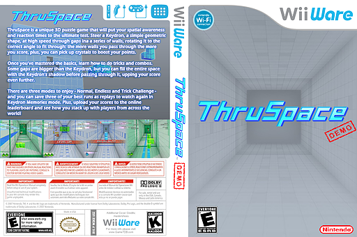 Thruspace (Demo) WiiWare cover (XHJE)
