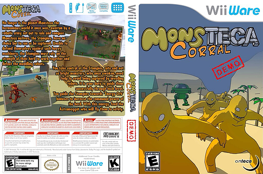 Monsteca Corral Demo WiiWare cover (XIKE)