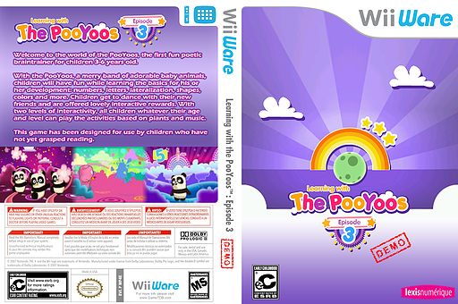 Learning with the Pooyoos Episode 3 Demo WiiWare cover (XIPE)