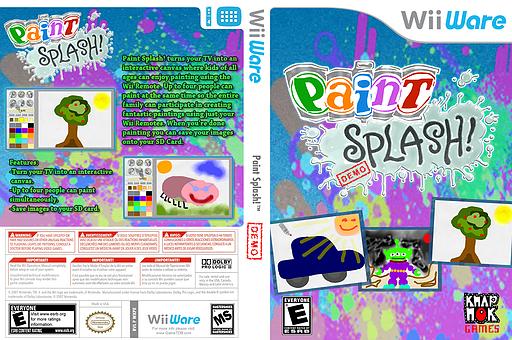 Paint Splash Demo WiiWare cover (XJHE)
