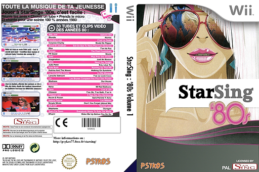 StarSing : '80s Volume 1 v1.2 CUSTOM cover (SIS80S)