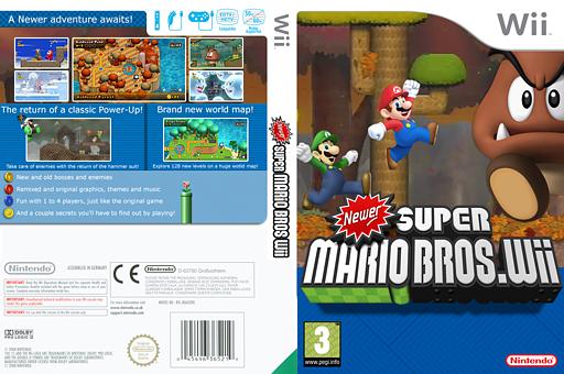 Newer Super Mario Bros. Wii CUSTOM cover (NWRP01)