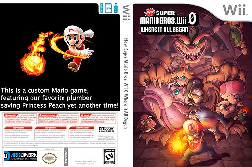 New Super Mario Bros. Wii 0 Where It All Began CUSTOM cover (SWBP01)
