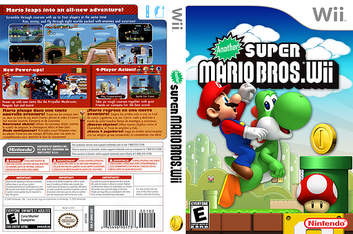 Another Super Mario Bros. Wii CUSTOM cover (AMNE01)