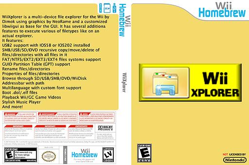 WiiXplorer Homebrew cover (DWXA)