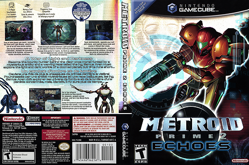 Metroid Prime 2: Echoes GameCube cover (G2ME01)