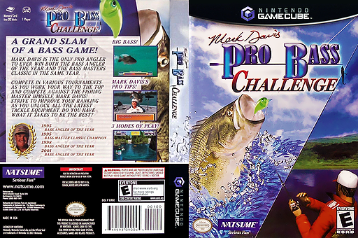 Mark Davis Pro Bass Challenge GameCube cover (G9BEE9)