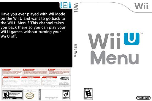 Wii U Menu Channel cover (HCVA)