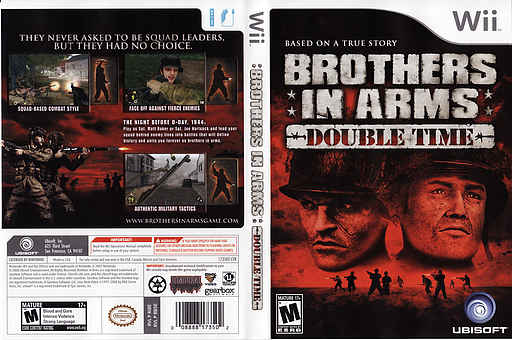 Brothers In Arms: Earned In Blood Wii cover (RB5E41)
