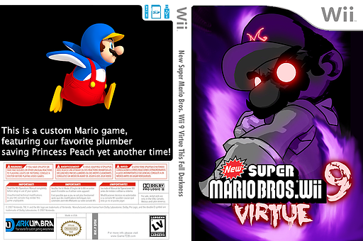 New Super Mario Bros. Wii 9 Virtue: This Fall Darkness CUSTOM cover (SFDE01)