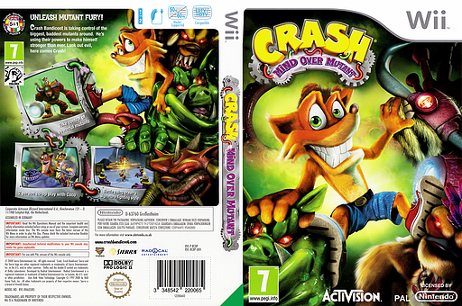 Crash: Mind Over Mutant Wii cover (RC8P7D)