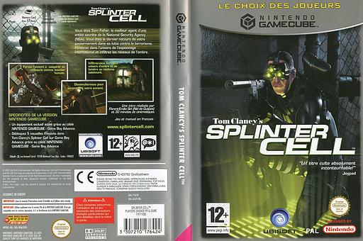 Tom Clancy's Splinter Cell pochette GameCube (GCEP41)