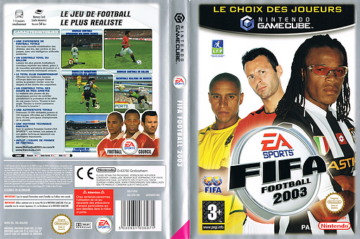 FIFA Football 2003 pochette GameCube (GFAF69)