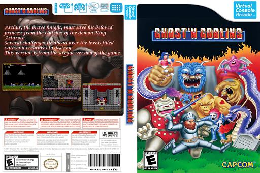 Ghosts 'n Goblins VC-Arcade cover (E54E)
