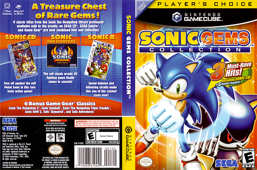 Sonic Gems Collection GameCube cover (G2XE8P)