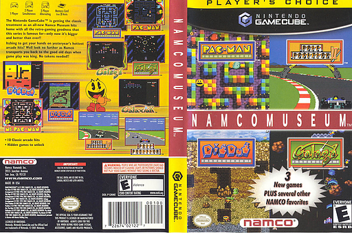 Namco Museum GameCube cover (GNMEAF)